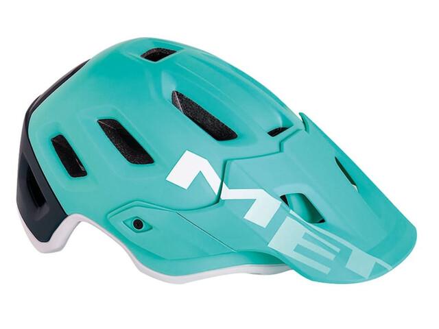 MET Roam casco per bici blu/turchese